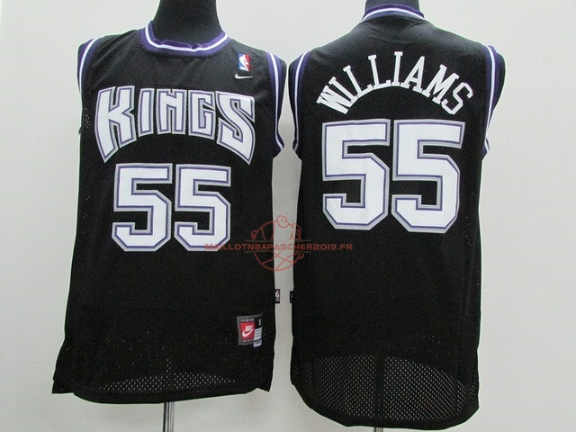Achat Maillot NBA Sacramento Kings NO.55 Jason Williams Noir pas cher