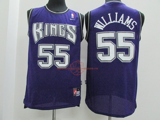 Achat Maillot NBA Sacramento Kings NO.55 Jason Williams Pourpre pas cher