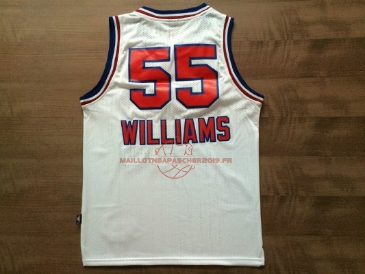 Achat Maillot NBA Sacramento Kings NO.55 Jason Williams Retro Blanc pas cher