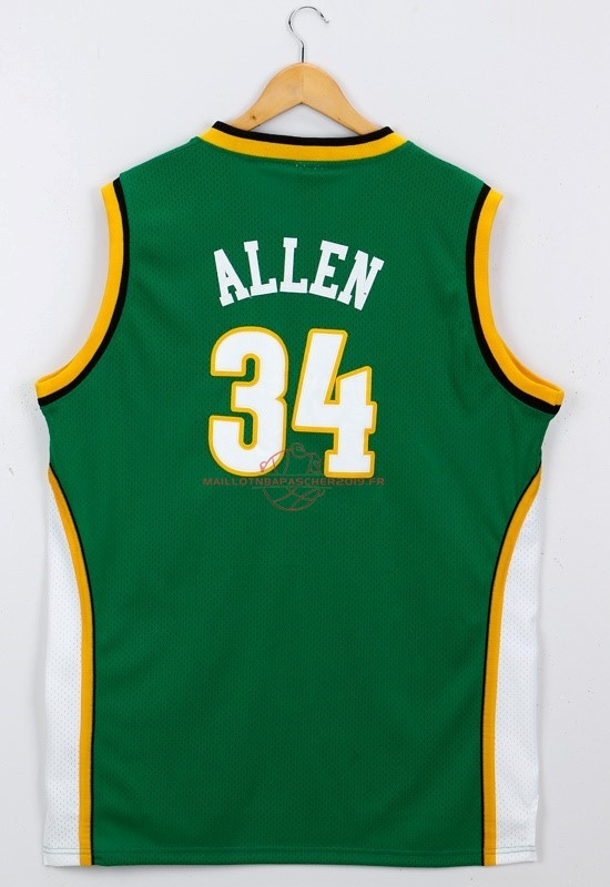 Achat Maillot NBA Seattle Supersonics NO.34 Ray Allen Vert pas cher