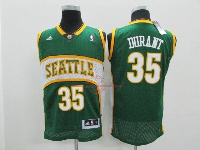 Achat Maillot NBA Seattle Supersonics NO.35 Kevin Durant Vert pas cher