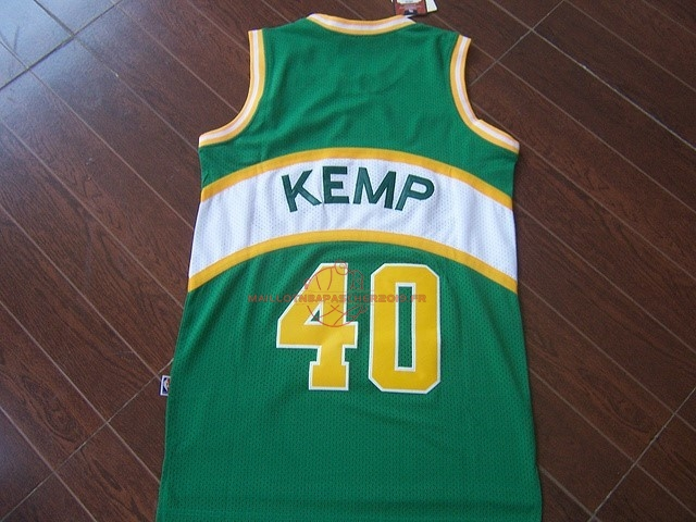 Achat Maillot NBA Seattle Supersonics NO.40 Shawn Kemp Vert pas cher