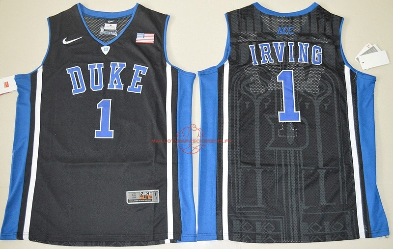 Achat Maillot NCAA Duke NO.1 Kyrie Irving Noir pas cher