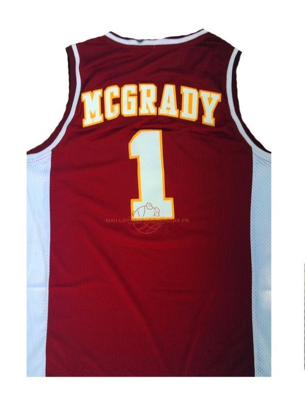 Achat Maillot NCAA Mountzion NO.1 Tracy McGrady Rouge pas cher