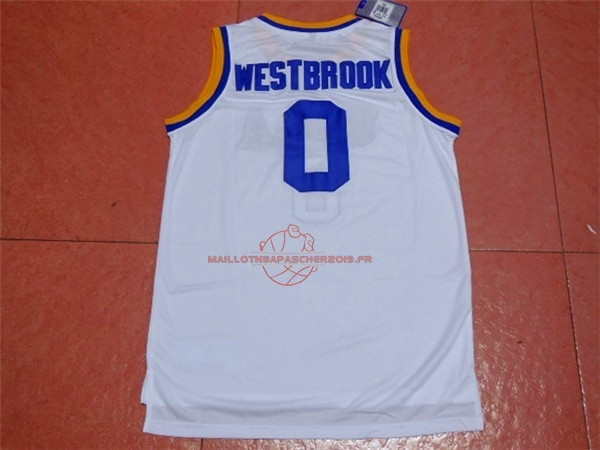 Achat Maillot NCAA UCLA NO.0 Russell Westbrook Blanc pas cher