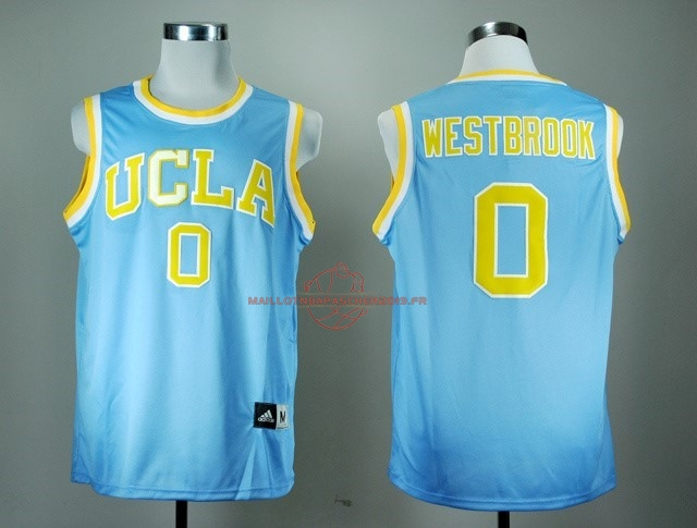 Achat Maillot NCAA UCLA NO.0 Russell Westbrook Bleu pas cher