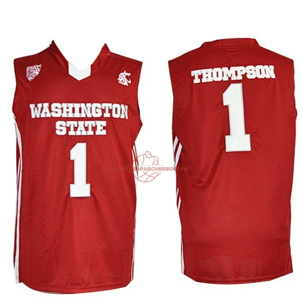 Achat Maillot NCAA Washington State NO.1 Thompson Rouge pas cher