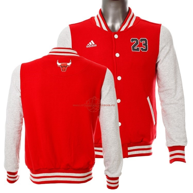 Achat Survetement En Laine NBA Chicago Bulls NO.23 Michael Jordan Rouge pas cher