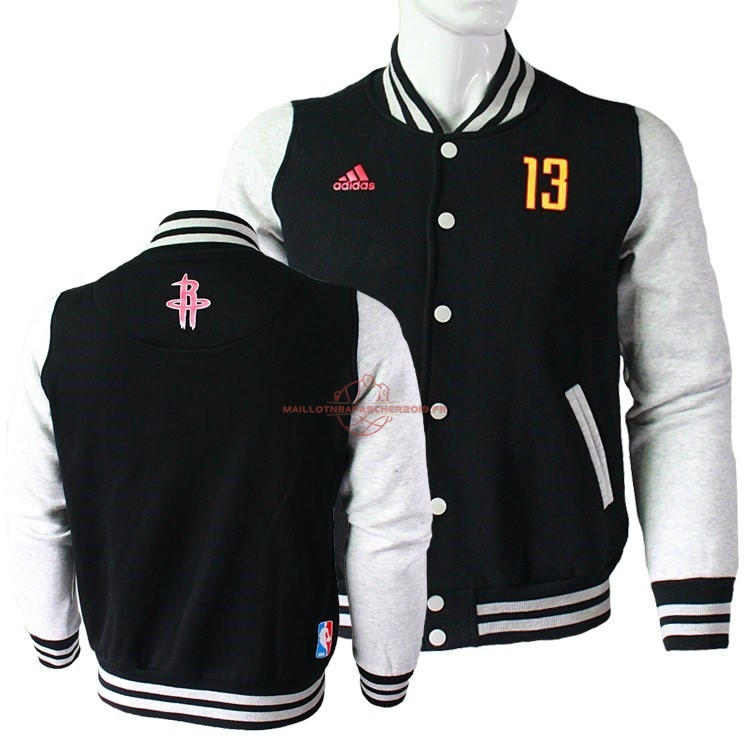Achat Survetement En Laine NBA Houston Rockets NO.13 James Harden Noir pas cher