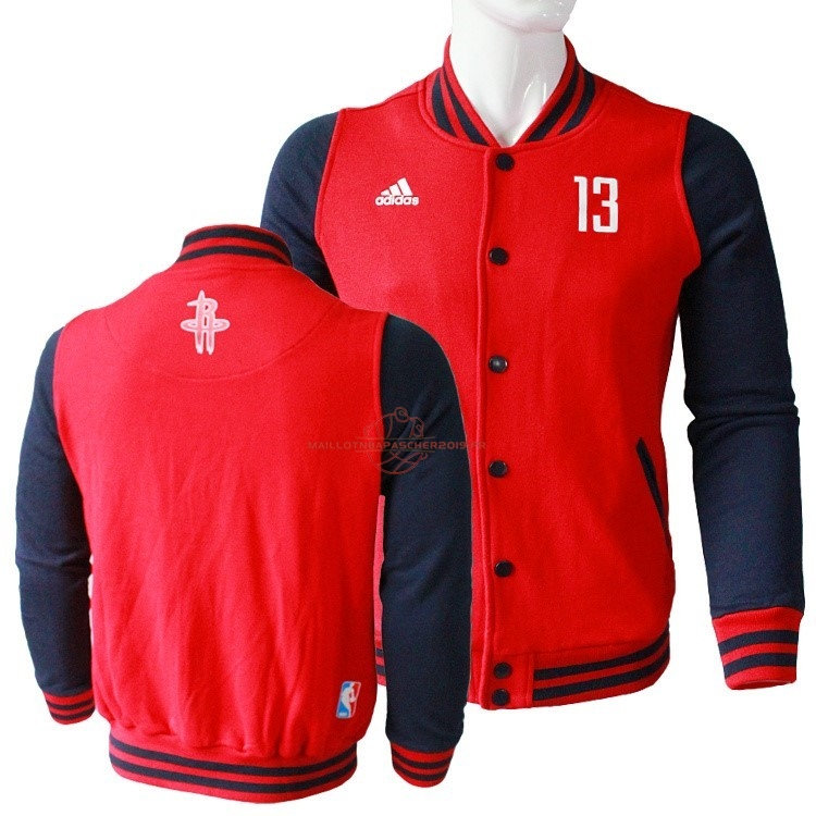 Achat Survetement En Laine NBA Houston Rockets NO.13 James Harden Rouge pas cher