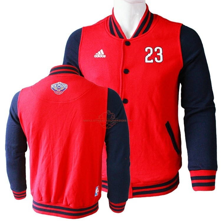 Achat Survetement En Laine NBA New Orleans Pelicans NO.23 Anthony Davis Rouge pas cher