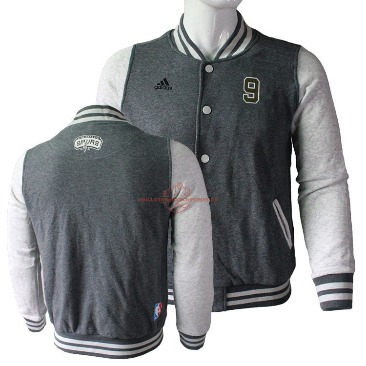 Achat Survetement En Laine NBA San Antonio Spurs NO.9 Tony Parker Gris pas cher