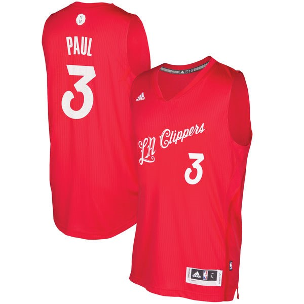 Achat Maillot NBA Los Angeles Clippers 2016 Noël NO.3 Chris Paul Rouge pas cher