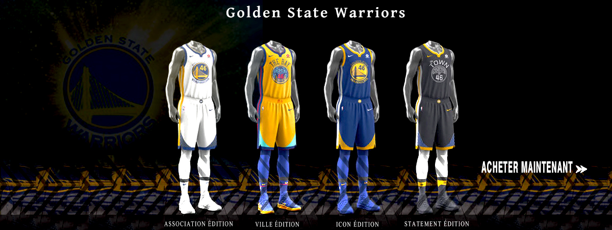 Maillot NBA Nike Golden State Warriors 2018