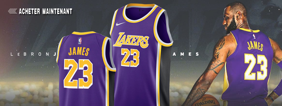 Maillot NBA Nike Los-Angeles Lakers 23 Lebron James Pas Cher